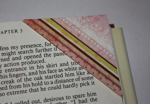 Corner bookmark, on a page