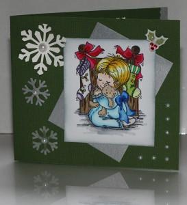 Christmas - Girl waiting for santa
