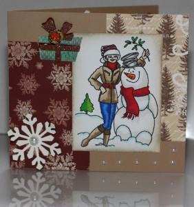 Christmas - Mistletoe Snowman