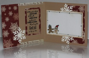 Christmas - Mistletoe Snowman, inside